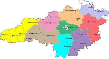 Кіровоградщина: в обласній раді вивчатимуть питання поділу області на три райони