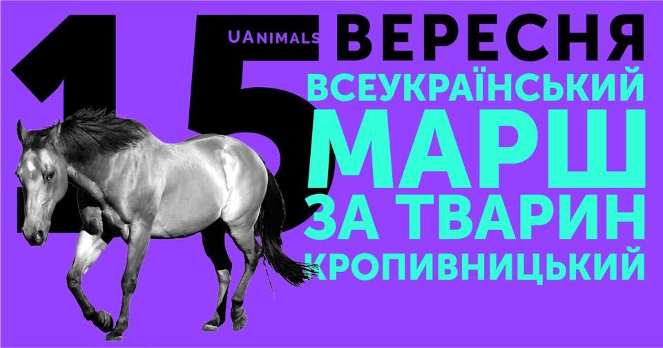 Без Купюр У Кропивницькому відбудеться марш за тварин Життя  тварини марш Кропивницький