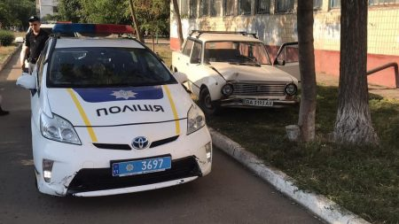 У Кропивниькому п'яний водій в'їхав у дерево на території школи. ФОТО