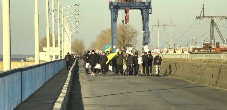 У Світловодську люди протестували через відсутність опалення. ФОТО