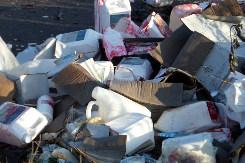 Без Купюр У Приютівській громаді ліквідували звалище агрохімічних відходів. ФОТО Кримінал  Приютівська ОТГ Звалище