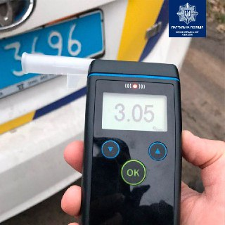 Без Купюр У Кропивницькому затримали водія з 3,05 проміле алкоголю в крові при нормі 0,2 За кермом  Патрульна поліція п'яний водій 2020 рік