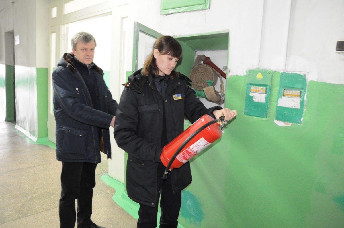 Без Купюр У Кропивницькому розпочали перевірку стану пожежної безпеки інженерного коледжу. ФОТО Життя  перевірили пожежну безпеку ДСНС 2020 рік