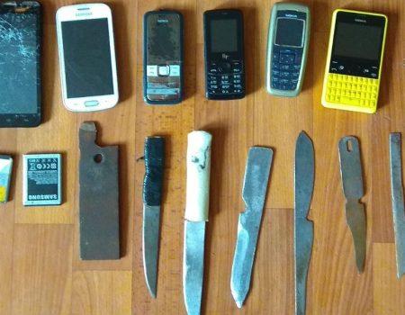 На Кіровоградщині у виправній колонії в ув'язнених знайшли зброю й інші заборонені предмети