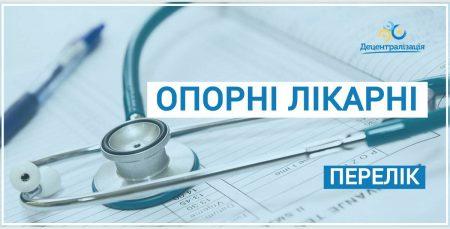 Визначено опорні лікувальні заклади Кіровоградщини