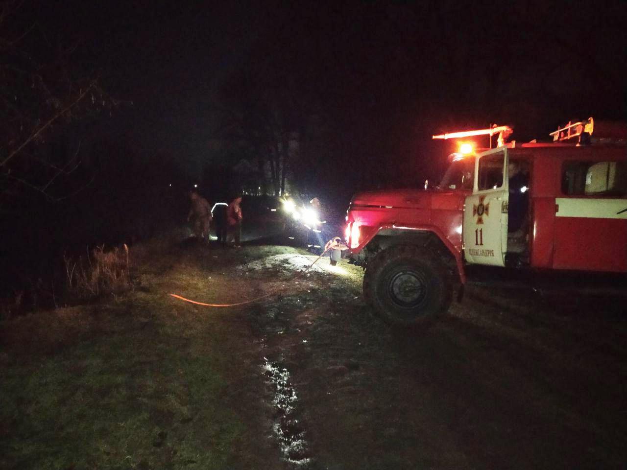 Без Купюр В Олександрії рятувальникам довелося діставати автівку з річки. ФОТО За кермом  рятувальники Річка авто 2020 рік
