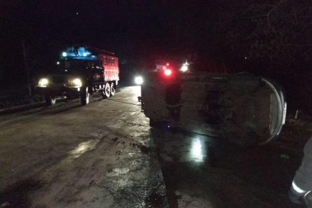 У Голованівську автівка злетіла в кювет та перекинулась. ФОТО