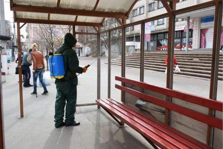 У Кропивницькому центральні зупинки громадського транспорту дезінфікують тричі на день