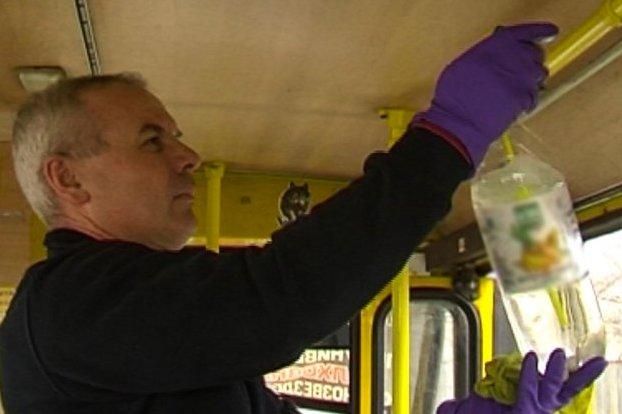 Без Купюр У Кропивницькому частину маршруток прибирають і дезінфікують п'ять разів на день Життя  дезінфекція громадський транспорт грип 2020 рік
