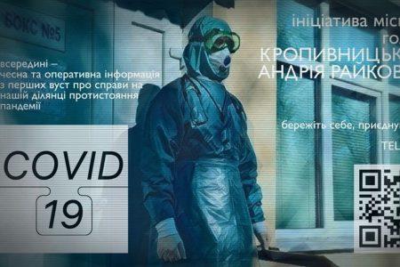 У Кропивницькому створили телеграм-канал з оперативною інформацією про ситуацію з коронавірусом в місті