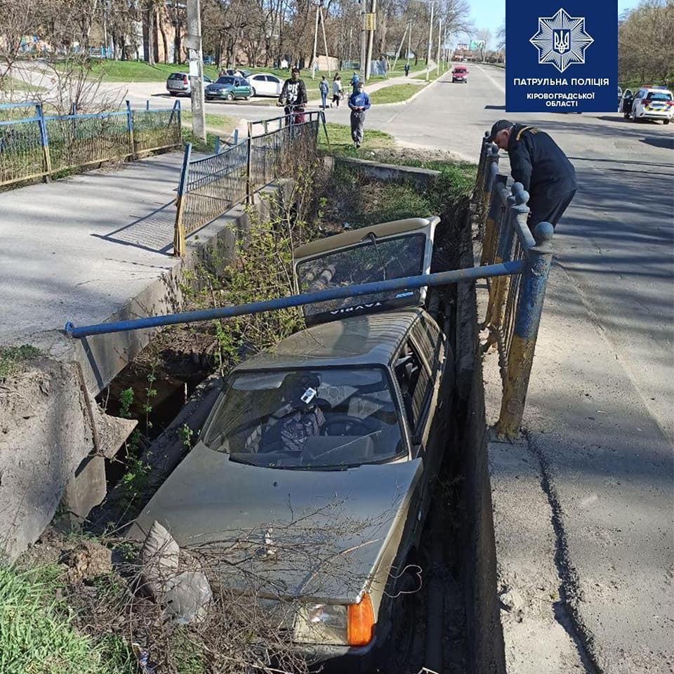 Без Купюр У Кропивницькому автівка злетіла з мосту. ФОТО За кермом  ДТП 2020 рік