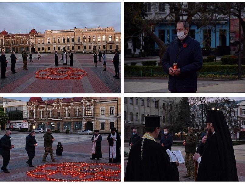 Без Купюр У Кропивницькому запалили свічки та провели молебень на площі. ФОТО Події  молебень Єпископ Марк день пам'яті та примирення 2020 рік