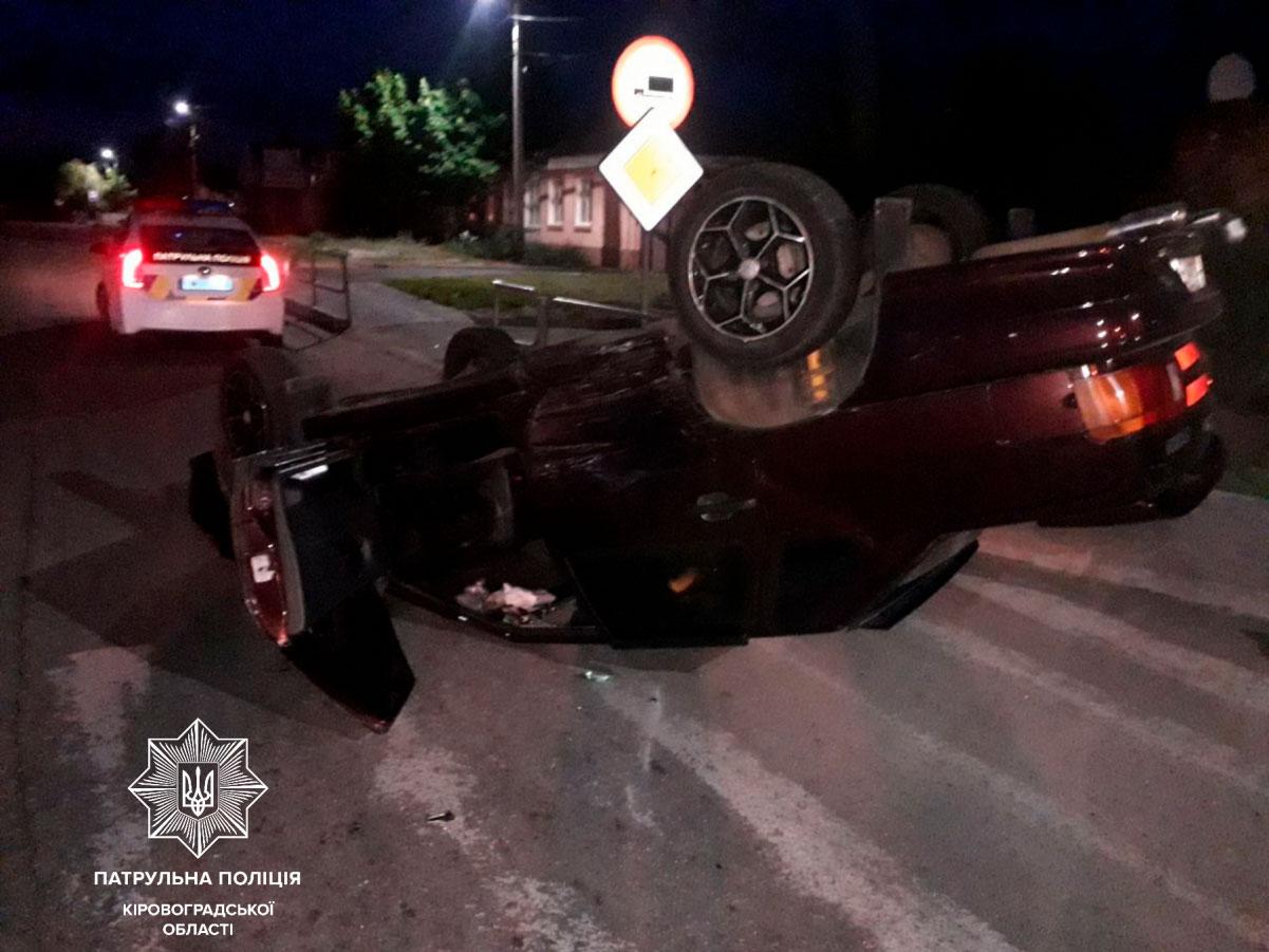 Без Купюр У Кропивницькому перекинулася автівка За кермом  ПДР ДТП водії ВАЗ 2115 2020 рік
