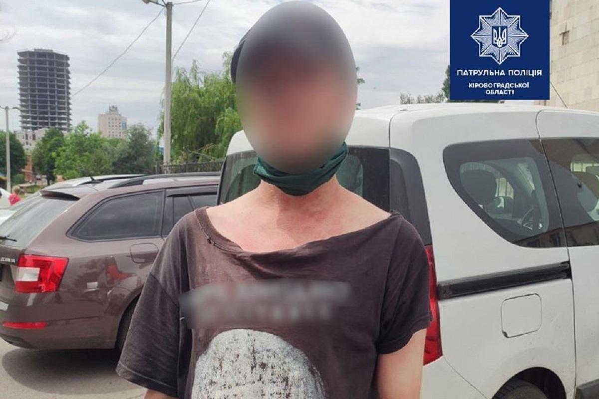 Без Купюр У Кропивницькому патрульні затримали чоловіка, який був у розшуку Кримінал  розшук Патрульна поліція 2020 рік
