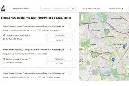 Обрати медпослугу в Кропивницькому тепер можна онлайн