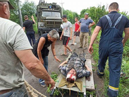 У Бобринецькому районі водій мопеда впав із греблі. ФОТО
