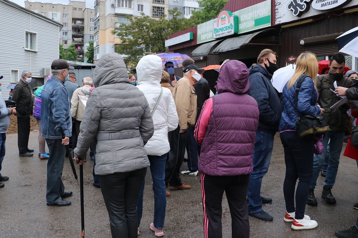 Без Купюр У Кропивницькому протестували проти будівництва ще одного магазину Події  Спецінспекція Пацаєва магазин забудовник 2020 рік