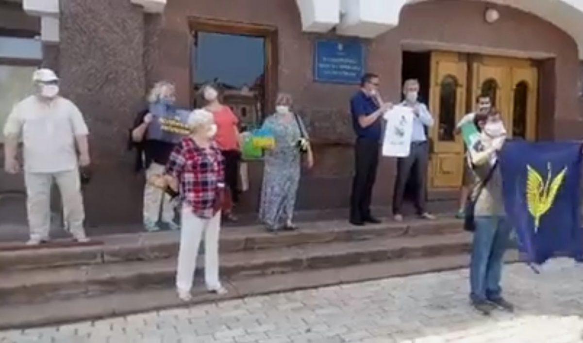 Без Купюр У Кропивницькому протестували проти політичних переслідувань Політика  рух опору капітуляції 2020 рік