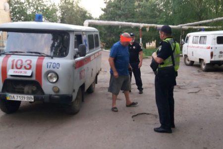"""У Новомиргороді поліція зупинила п'яного водія """"швидкої"""""""