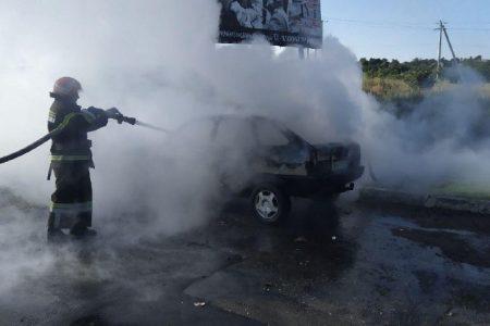 У Новоукраїнці горіла автівка. ФОТО