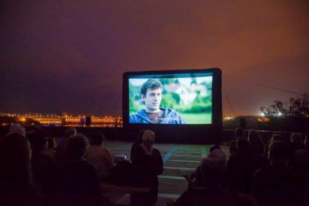 В ОТГ на Кіровоградщині з'явився кінотеатр просто неба