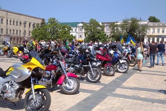 Без Купюр У Кропивницькому побували учасники третього мотопробігу за єдність України Події  мотопробіг 2020 рік