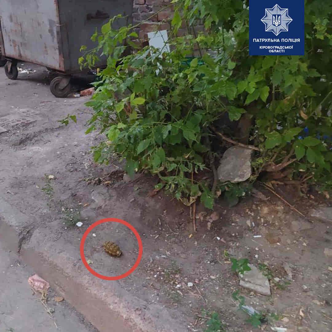 Без Купюр У Кропивницькому діти гралися гранатою. ФОТО Події  Патрульна поліція діти граната 2020 рік