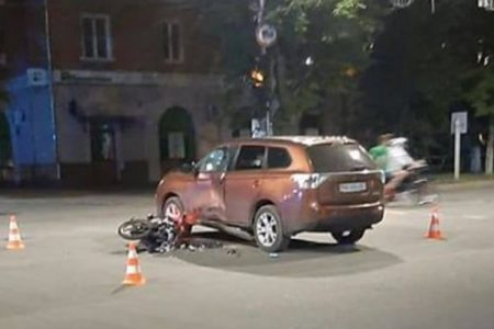 На Кіровоградщині внаслідок ДТП травмувався мотоцикліст