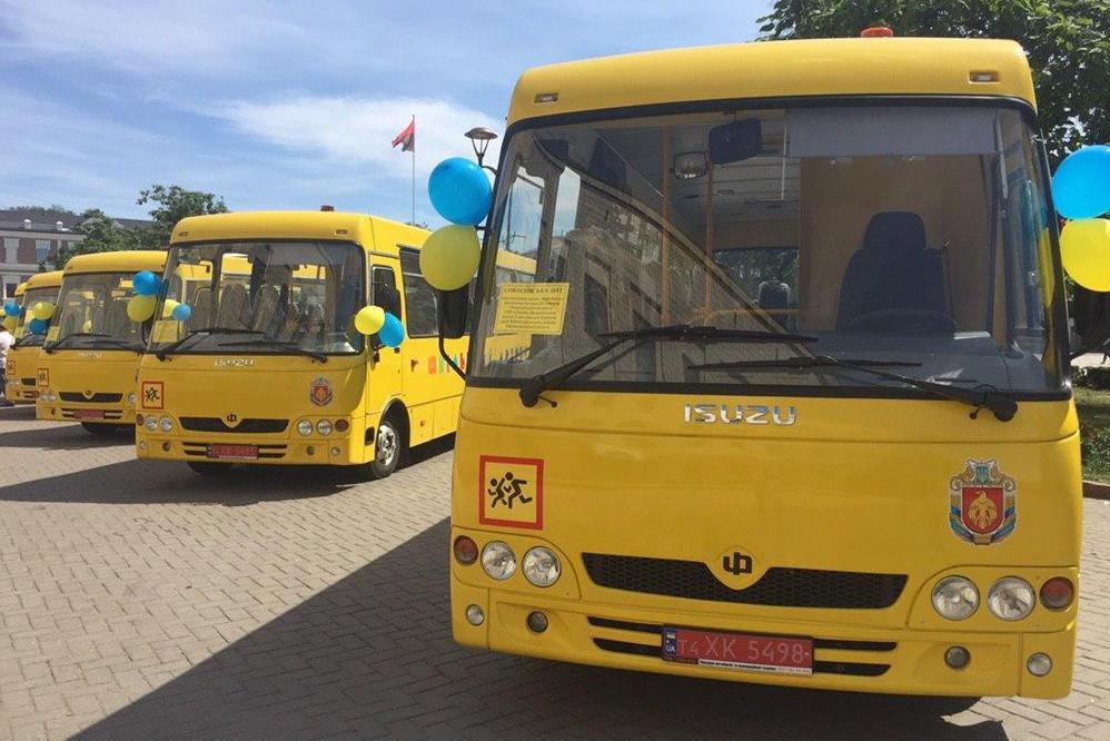 Без Купюр В які райони Кіровоградщини поїдуть нові шкільні автобуси Освіта  Кіровоградська ОДА автобуси 2020 рік