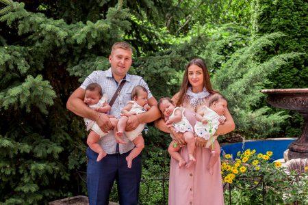 Родину Валіхновських із Кропивницького, в якій народилася четвірня, взяли на квартирний облік