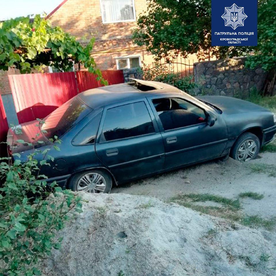 """Без Купюр У Кропивницькому паркан """"зупинив"""" водія,  який перебрав алкоголю в 15 разів від норми За кермом  Патрульна поліція водій 2020 рік"""