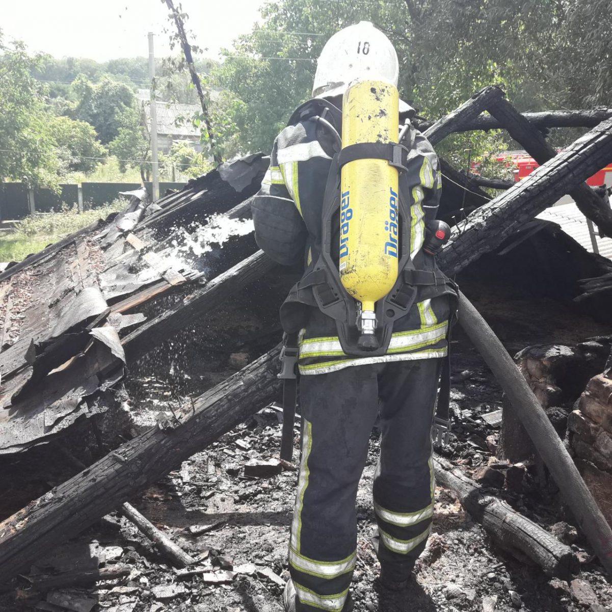 Без Купюр Кіровоградщина: у Знам'янці під час пожежі врятували двох чоловіків. ФОТО Події  рятувальники пожежа 2020 рік