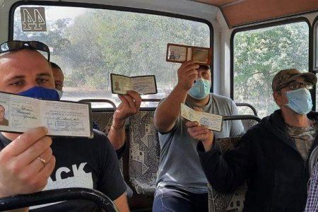 Кропивницькі атовці проводять акції на маршрутах, де їм відмовляють у безкоштовному проїзді