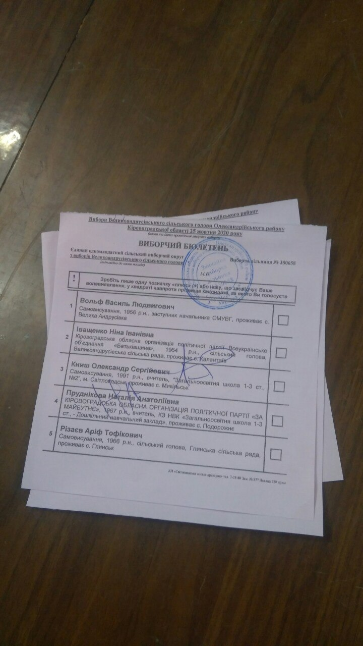 """Без Купюр """"Я не можу понять, як голосувать..."""" - як виборці псували бюлетені на Кіровоградщині. ФОТО Політика  ОПОРА новини Кіровоградщина зіпсовані бюлетені вибори 2020 рік"""