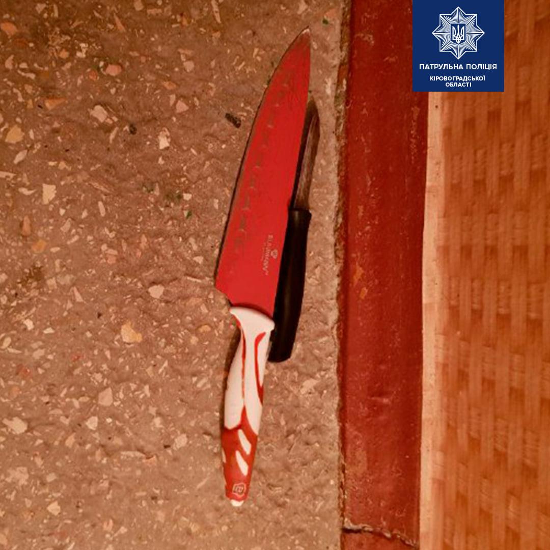 Без Купюр У Кропивницькому психічно хворий чоловік ударив ножем власну матір на очах у трьох дітей. ФОТО Кримінал  Патрульна поліція новини Кропивницький