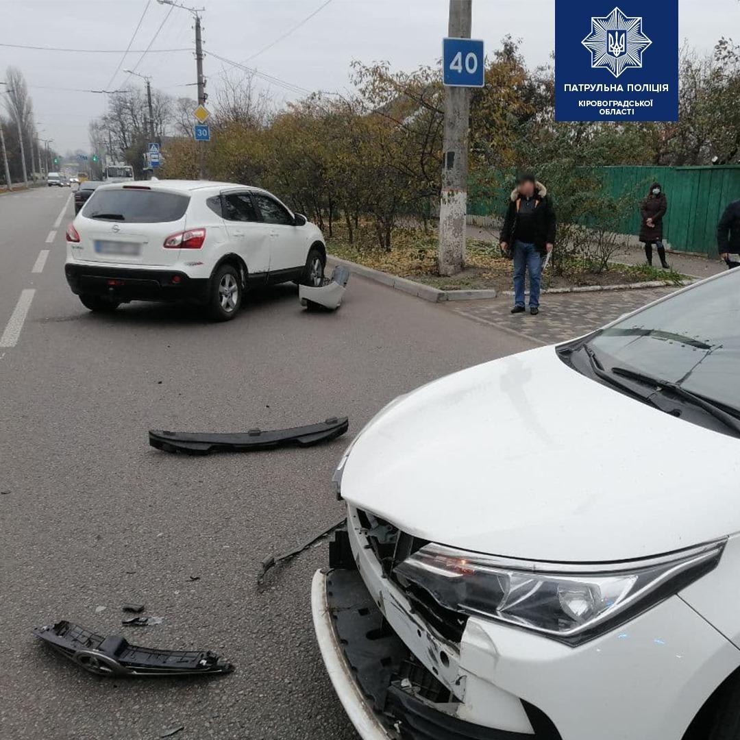Без Купюр У Кропивницькому не розминулися Toyota Corolla і Nissan Qashqai. ФОТО За кермом  Патрульна поліція новини Кропивницький ДТП