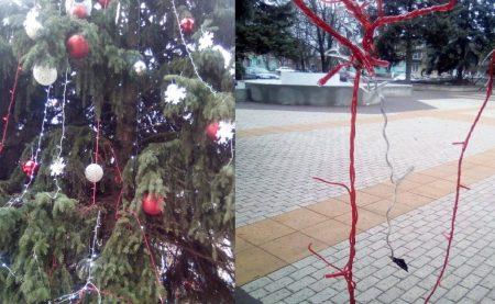 У Знам'янці з центральної новорічної ялинки вкрали гірлянду
