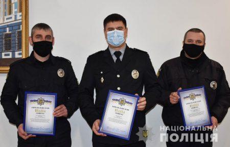 Кіровоградщина: трьох поліцейських із Малої Виски відзначили за розкриття злочину