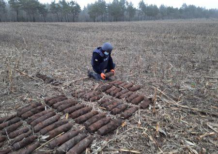 У Кропивницькому районі у полі знайшли понад сотню боєприпасів. ФОТО