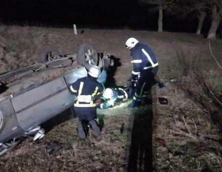Рятувальники розблокували двох потерпілих у ДТП на Кіровоградщині. ФОТО