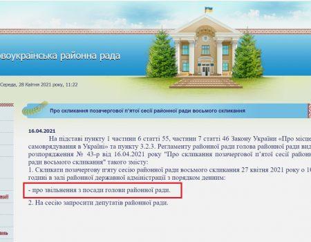 """У Новоукраїнському районі хотіли звільнити голову райради від """"Слуги народу"""""""