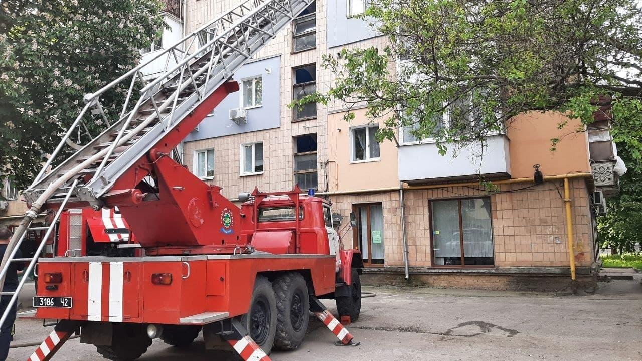 Без Купюр У Кропивницькому горіла квартира на 5-ому поверсі. ФОТО Події  пожежа новини Кропивницький Кіровоградщина ДСНС 2021 рік