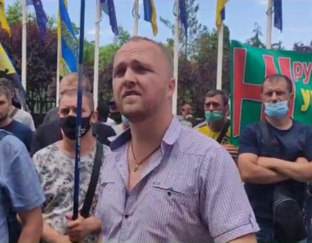 Гірники Кіровоградщини пікетують Офіс президента