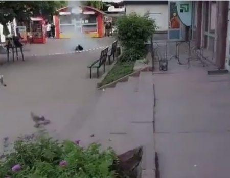 Переполох біля банку в Кропивницькому стався через банку, а не бомбу. ВІДЕО