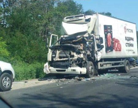 У Кропивницькому районі одна вантажівка зіткнулася з іншою. ФОТО