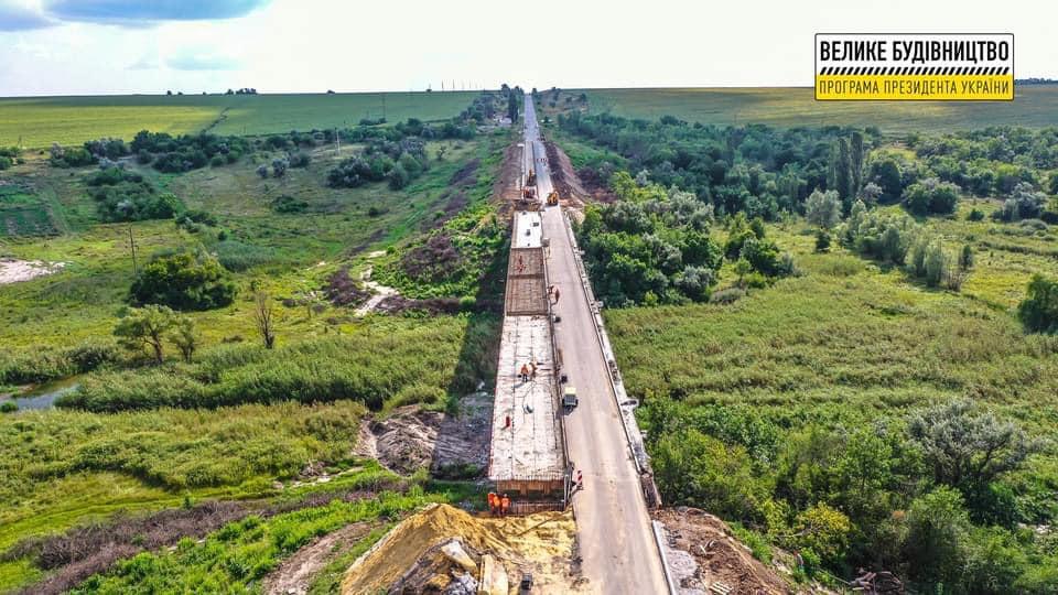 Без Купюр На Кіровоградщині триває ремонт одного з наймасштабніших дорожніх об'єктів. ФОТО За кермом  новини Кіровоградщина велике будівництво 2021 рік