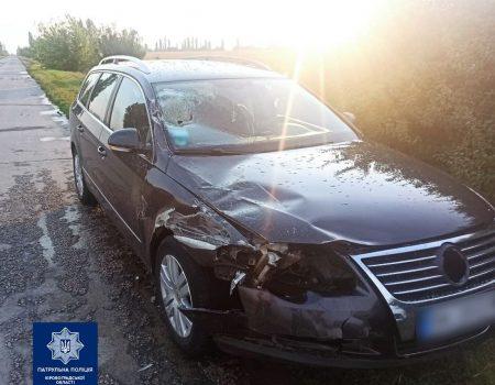 На Кіровоградщині легковик зіткнувся з вантажівкою. ФОТО
