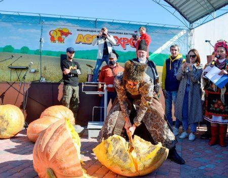 На Кіровоградщині знам'янчанин виростив 80-кілограмового гарбуза й встановив рекорд. ФОТО